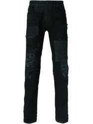 Diesel Black Gold 'Type 251' Distressed Jeans