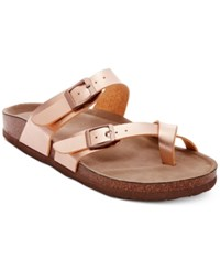 Madden Girl Bryce Footbed Sandals Women's Shoes Rose Gold
