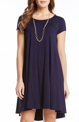 Women's Karen Kane 'Maggie' High Low Trapeze Dress Navy