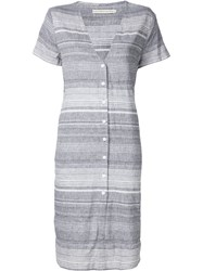 Shades Of Grey By Micah Cohen Striped Shirt Dress