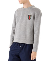 Gucci Long Sleeve Knit Pullover Light Gray Size Large Light Grey