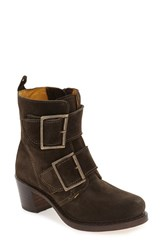 Frye Women's 'Sabrina' Double Buckle Boot Fatigue Oiled Suede