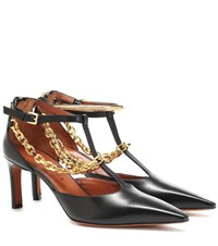 Altuzarra Chain Trimmed Leather Pumps Black