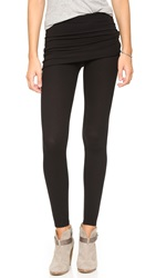 Splendid Thermal Fold Over Leggings Black