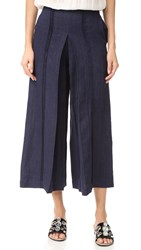 Zeus Dione Pleiades Culotte Trousers Navy Blue