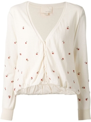 Band Of Outsiders Ladybug Beaded Cardigan Nude And Neutrals