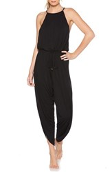 Laundry By Shelli Segal Cover Up Jumpsuit Black