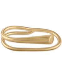 Rachel Roy Gold Tone Two Finger Polished Ring
