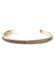 Henson Thin Embossed Bangle Metallic