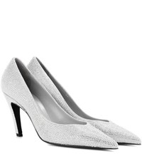 Balenciaga Crystal Embellished Pumps Grey