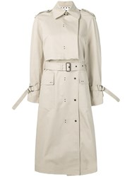 Eudon Choi Hoodedtrench Coat Neutrals