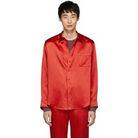 Sies Marjan Red Satin Sander Shirt