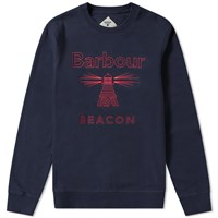 Barbour Beacon Stitch Crew Sweat Blue