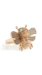 Kate Spade New York All Abuzz Bee Ring Worn Gold
