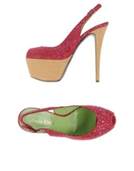 Ernesto Esposito Platform Sandals Brick Red