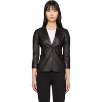 The Row Black Leather Nolbon Jacket