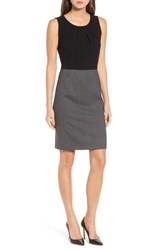 Boss 'S Dirini Two Tone Wool Sheath Dress Dark Grey Fantasy