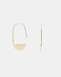 Weekday Safy Thread Through Earrings Gold