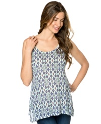 Wendy Bellissimo Sleeveless Printed Maternity Tunic Bone Print