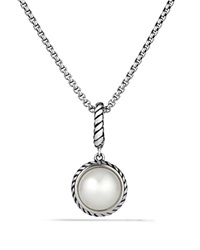David Yurman Cable Collectibles Pearl Charm Silver