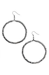 Karine Sultan Women's Ava Beaded Hoop Earrings