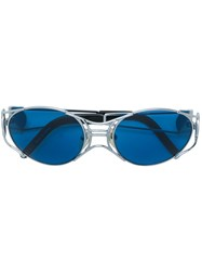 Jean Paul Gaultier Vintage Narrow Cutout Sunglasses Metallic