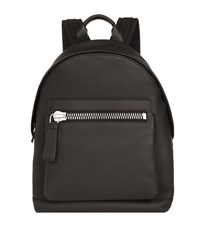 Tom Ford Leather Backpack Unisex Black