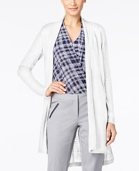 Alfani Petite Linen High Low Cardigan Only At Macy's Bright White