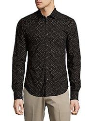 Scotch And Soda Dot Print Cotton Shirt Black Combo