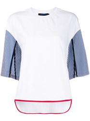 Sjyp Loose Fit Striped Sleeves T Shirt 60