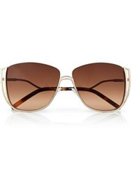 Karl Lagerfeld Piping Cat Eye Sunglasses Gold