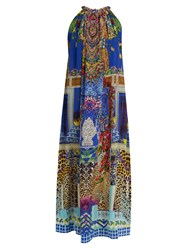 Camilla Bohemian Bounty Silk Dress Blue Multi