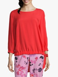 Betty Barclay Tie Trim Blouse Hibiscus Red
