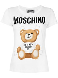 Moschino Toy Bear Paper Cut Out T Shirt White