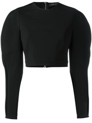 David Koma Slit Sleeves Blouse Black