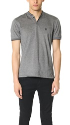 The Kooples Two Tone Pique Polo Grey