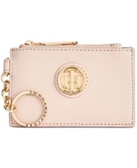 Tommy Hilfiger Lucky Charm Pebble Leather Id Coin Purse Blush