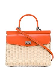 Rodo Top Handle Tote Bag Orange