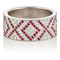 Ambre Victoria Women's White Diamond And Ruby Xoxo Cigar Band No Color