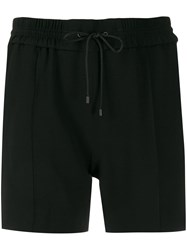 Kenzo Side Striped Track Shorts Black