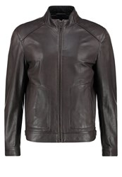 Karl Lagerfeld Leather Jacket Grau Grey