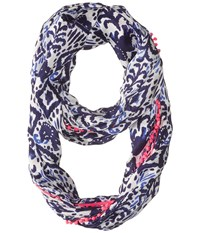 Lilly Pulitzer Riley Infinity Navy Tons Of Fun Scarf Scarves