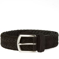 Andersons Anderson's Woven Suede Belt Black