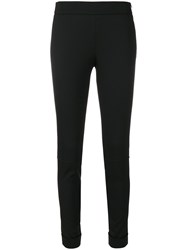 Tom Ford Cropped Leggings Women Spandex Elastane Virgin Wool 42 Black