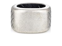Bottega Veneta Men's Silver Signet Ring Silver