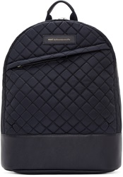 Want Les Essentiels Navy Quilted Nylon Backpack