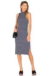 Splendid Striped Space Dye Rib Dress Navy