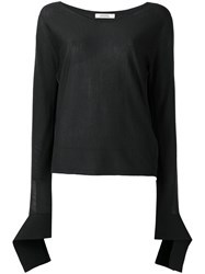 Dorothee Schumacher Elongated Sleeve Knitted Blouse Black