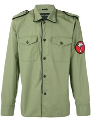 Marc Jacobs Patch Detail Military Style Jacket Men Cotton 50 Green