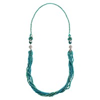 Martick 3 Way Murano Crystal Bead Necklace Sea Green